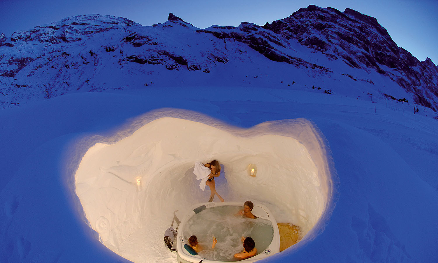 hot tub igloo get lost magazine. Black Bedroom Furniture Sets. Home Design Ideas