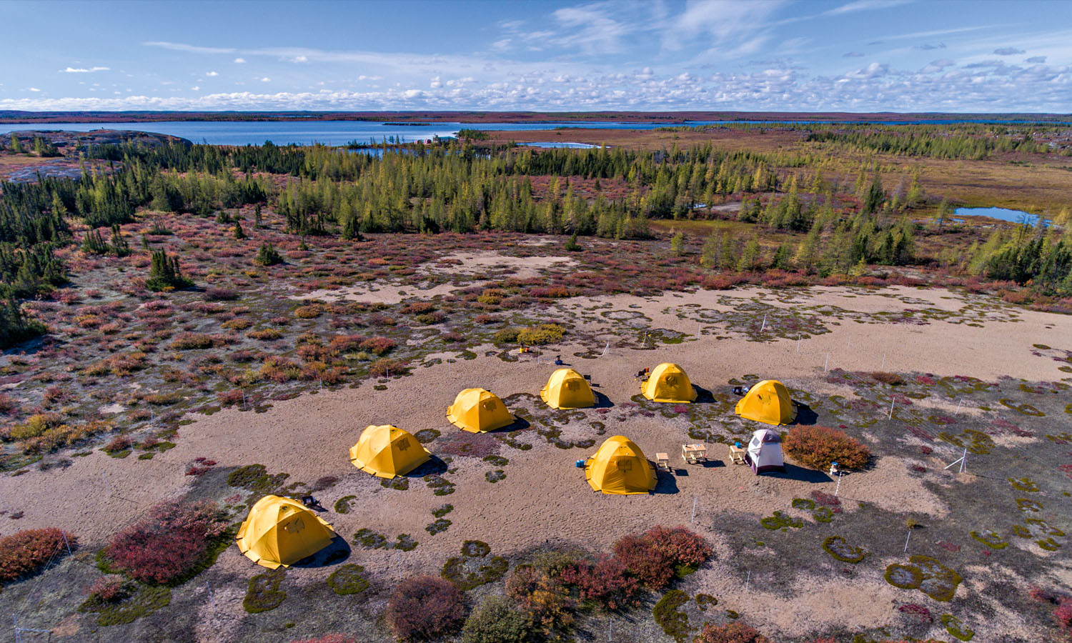 The new Tundra Camp in the Barren Lands.
